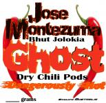 Jose Montezuma Chilli Chili Sauces Hot Sauce Whole Dried Ghost Chillies 10 Grams