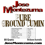 Jose Montezuma Chilli Chili Sauces Hot Sauce Ground Cumin 80g