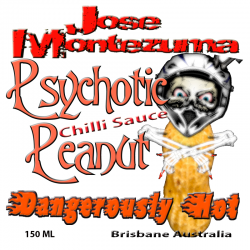 Jose Montezuma Chilli Chili Sauces Hot Sauce Psychotic Peanut Chili Sauce
