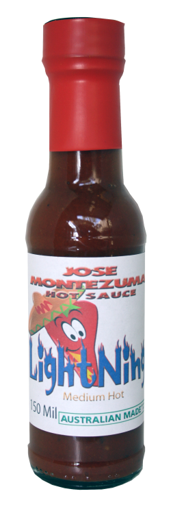 Jose Montezuma Chilli Chili Sauces Hot Sauce Lightning