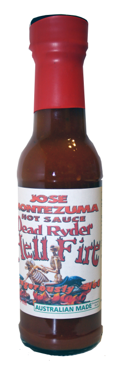Jose Montezuma Chilli Chili Sauces Hot Sauce Dead Ryder - Hell Fire Chilli Sauce
