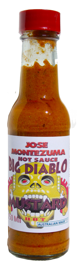Jose Montezuma Chilli Chili Sauces Hot Sauce Big Diablo Mustard