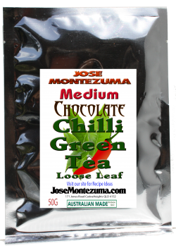 Jose Montezuma Chilli Chili Sauces Hot Sauce Chilli Green Tea Medium Chocolate